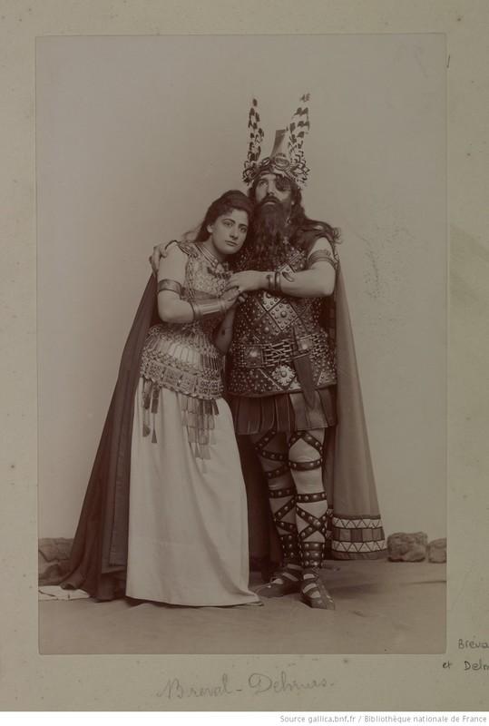 """Lucienne Bréval as Brünnhilde, and Francisque Delmas as Wotan, in """"La Walkyrie"""""""