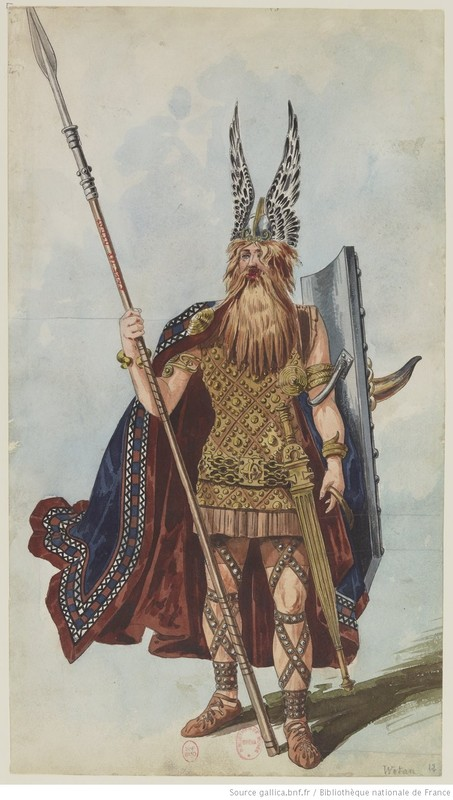 The Valkyrie: nineteen models of costumes by Charles Bianchini: Wotan