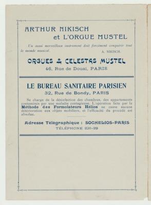 Théâtrophone Program for November 12-14, 1904 (p. 2)