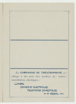 Théâtrophone Program for November 12-14, 1904 (p. 7)<br />