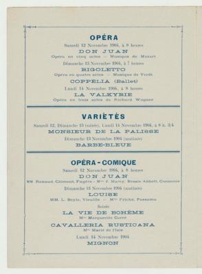 Théâtrophone Program for November 12-14, 1904 (p. 4)<br />